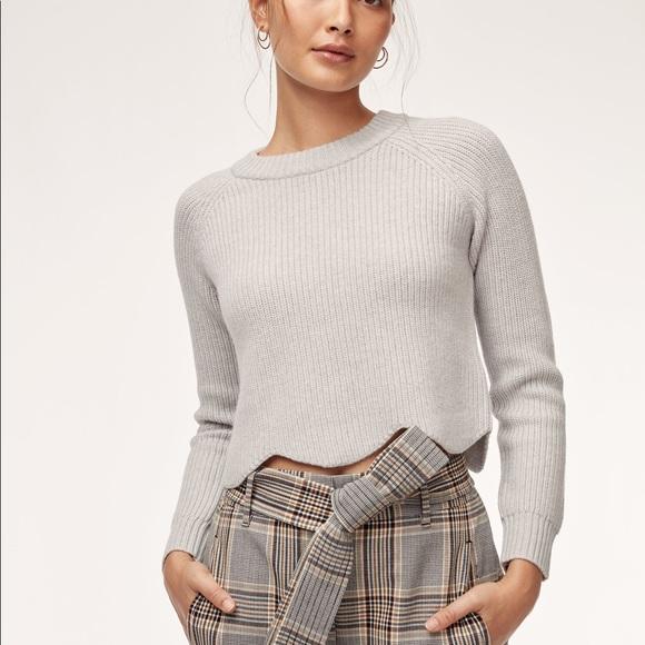 Aritzia Wilfred Sardou Sweater Light Grey Small